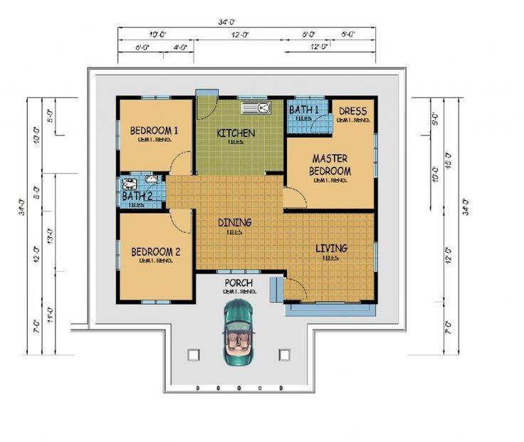 16 best baiti jannati images on pinterest blueprints for homes contoh pelan rumah kos sederhana malvernweather Gallery