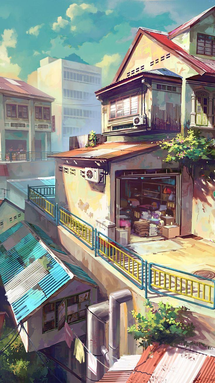 Japanese anime painting Anime scenery wallpaper, Anime