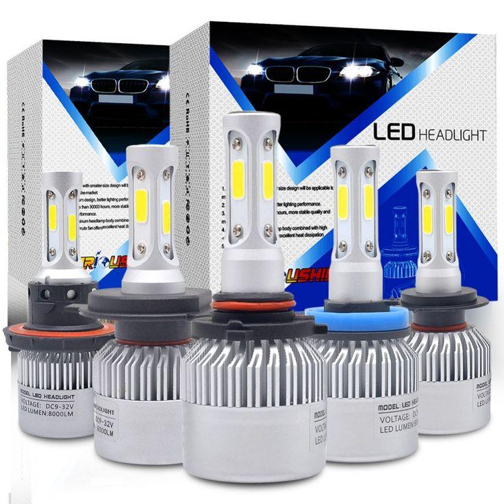 Sale US $18.62  Waterproof 72W 3 Sides Car Led H4 H7 H11 9005 9006 9007 H13 Bulbs 6500k COB Chips Headlight Bulb Automobile Headlamp