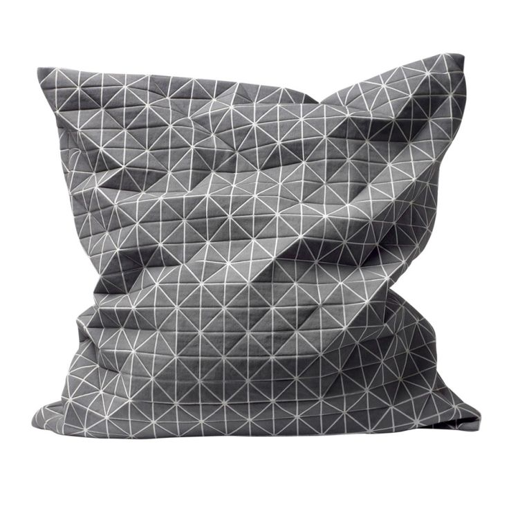 Mika Barr Origami Cushion by Nake: 3-D folding fabric. #Pillow #MIka_Barr