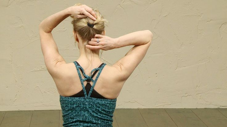 Yoga sequence to relieve chronic TMJ jaw head neck pain.