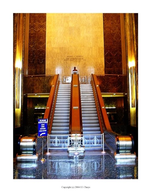 17 best images about art deco formal interiors on for Chrysler building lobby mural