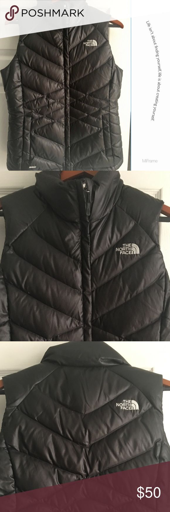 North Face Mint Condition Womans Black Vest SZ M North Face Vest..I can't even tell if this was worn or not. Pristine Condition purchased at Nordstrom and a STEEL at this price! Bundle for discount North Face Jackets & Coats Vests