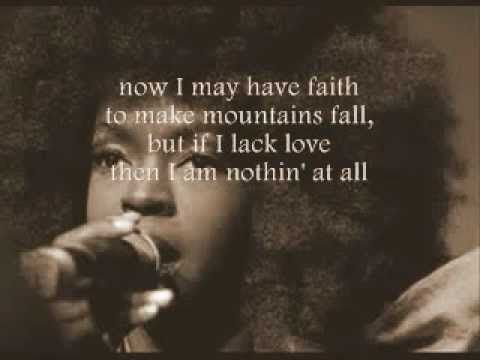▶ Lauryn Hill - Tell Him. Perfect for a calming drive.