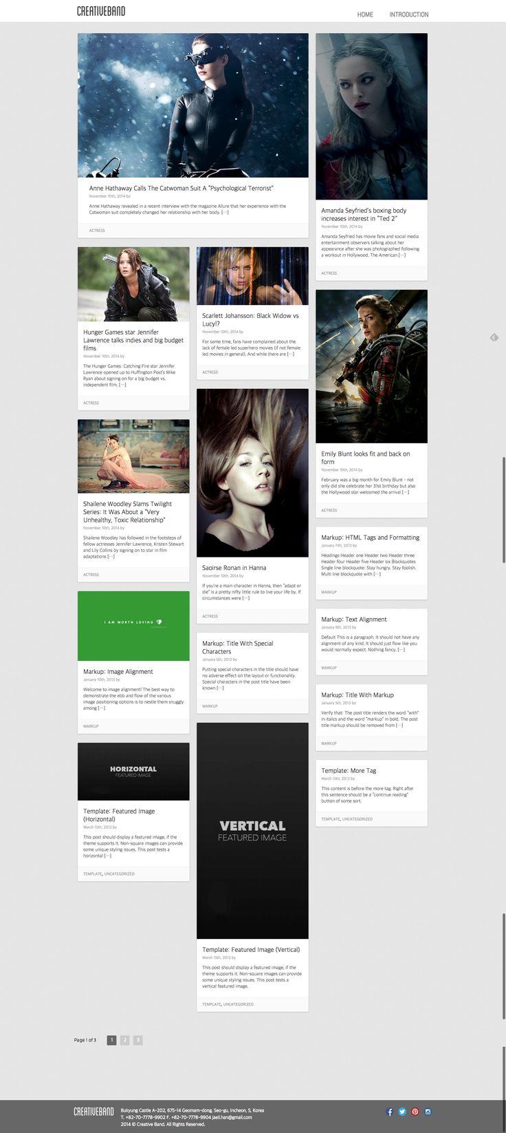 Free Masonry Layout WordPress Theme - Creative Band (http://creative-band.com)