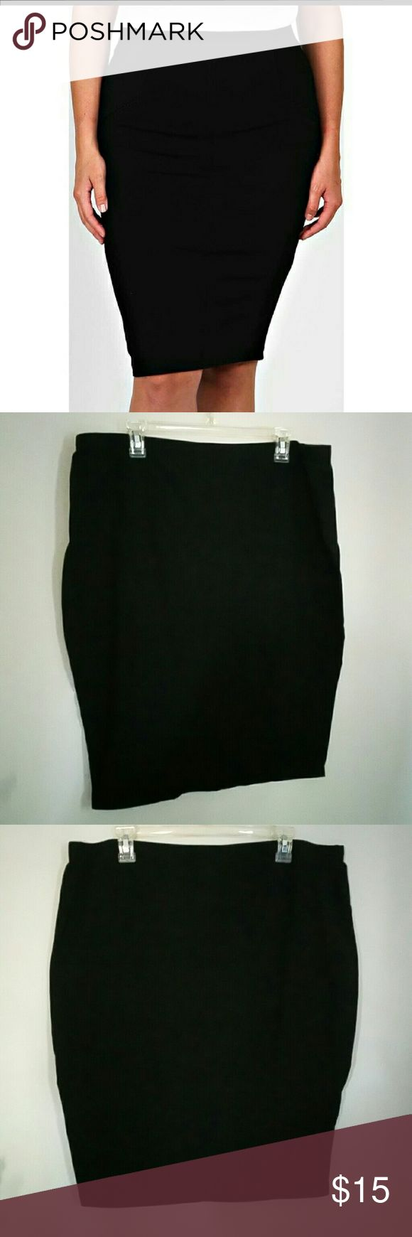 """BNWOT- FADED GLORY- PENCIL BODY CON SKIRT Brand new Waist not stretched is 19"""" laying flat  Length 25 1/2""""  Black All stretch, n very flattering Faded Glory Skirts"""