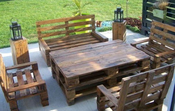 20 modèles de salons de jardin fabriqués en bois de palettes