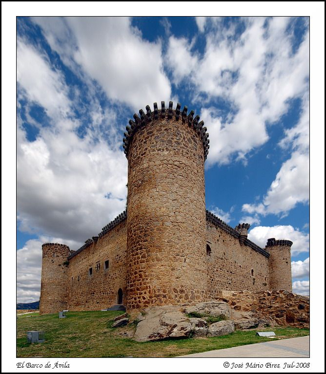 Castillo de Valdecorneja, El Barco de Ávila, Spain - 15th century fortress that belonged to the Duke of Alba, nowadays is the site of  various cultural activities.