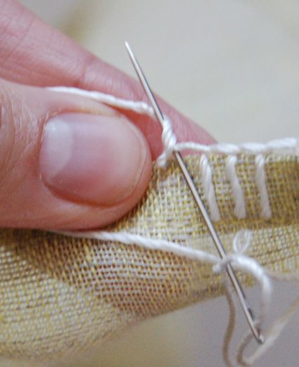 instructions for blanket stitch by hand