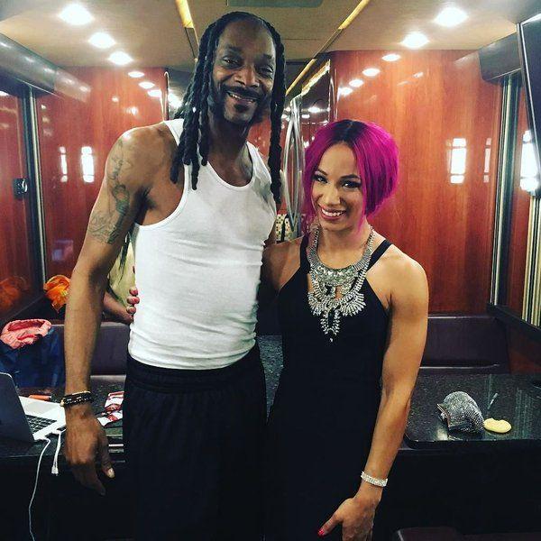 Snoop Dogg & his Cuz. Sasha Banks (WWE)