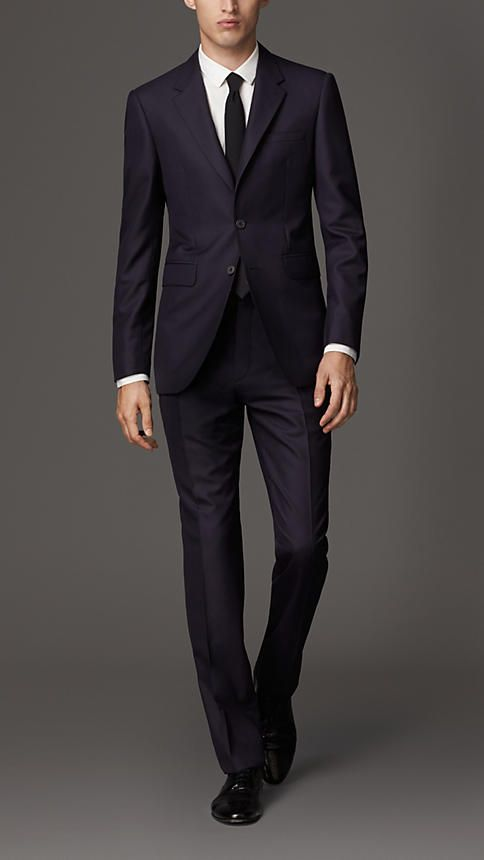 Burberry London Modern Fit Wool Suit FITTED LOOK the guys I know need to get their's fitted hella hah