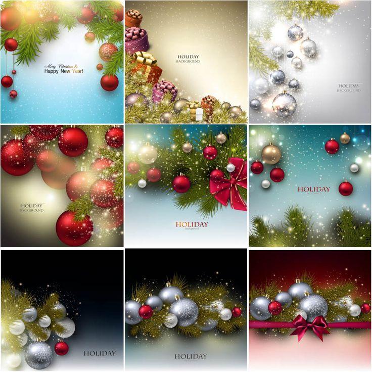 Holiday background with Christmas balls and Christmas