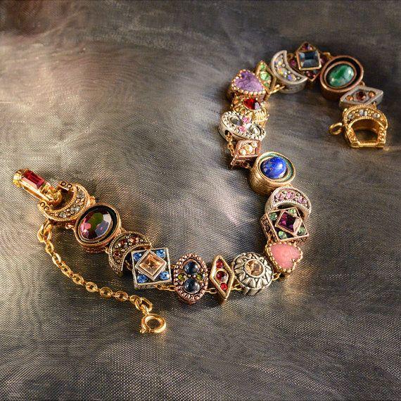 Slide Bracelet, Vintage Bracelet, Charm Bracelet, Victorian Bracelet, Wedding Bracelet, Antique Bracelet, Vintage Wedding, Victorian BR107