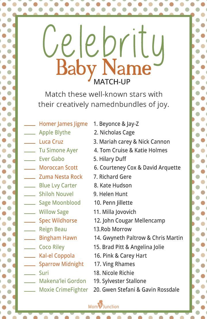 Baby Shower Celebrity Baby Quiz : shower, celebrity, Shower, Games, Activities, Would, Enjoy, Games,, Festive, Shower,, Couples