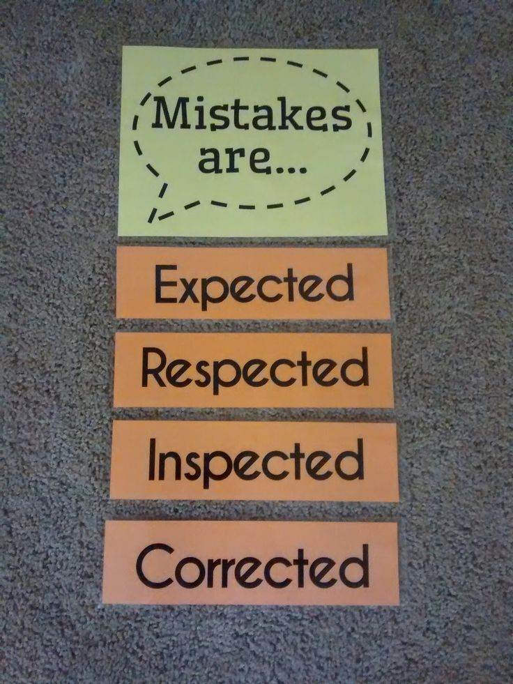 Math = Love: Growth Mindset Mistakes Poster                              …