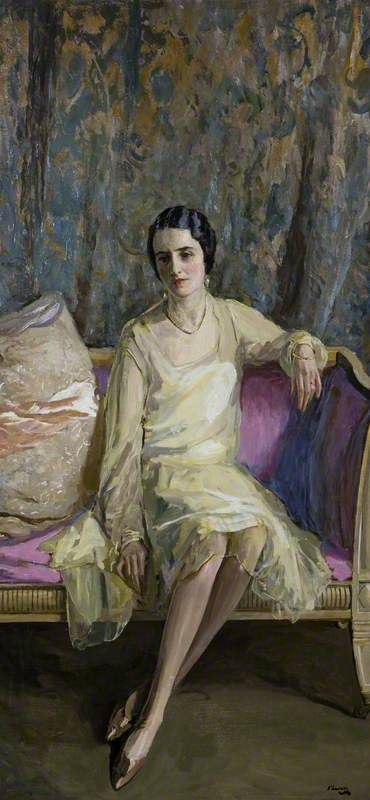 Eileen in Primrose Yellow (Sir John Lavery, R.A. - 1926)