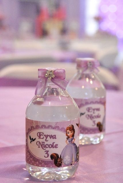 Drinks at a Sofia the First Party #sofiathefirst #party