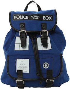 Doctor Who Tardis Slouch Backpack - can't resist.  i think it's the only doctor who gear I would truly enjoy owning... For kaity