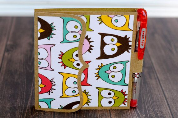 Post it sticky note Owls Paper Pen Teacher by owlpaperscissors, $6.00