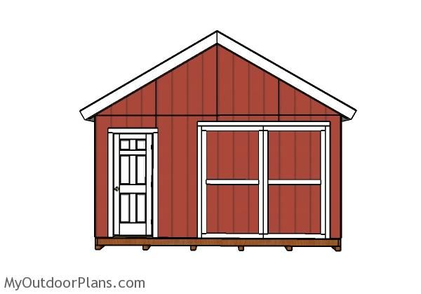 17 best images about outdoor shed plans free on pinterest for 16x24 shed plans free