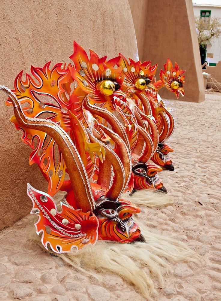 Máscaras de Diabladas  Mask for the festivals in San Pedro of Atacama