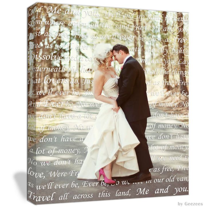 Gift Him Or Her Cotton Anniversary Gift Photo With Words