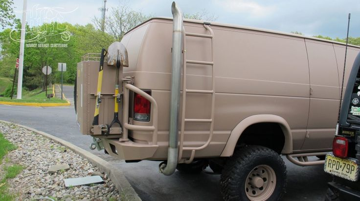 Lifted Ford Van Survival Vechile Pinterest Lifted
