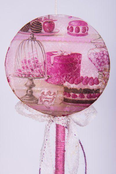 "Easter Candle Lollipos ""Patisserie"" #lollipops #decoupage"