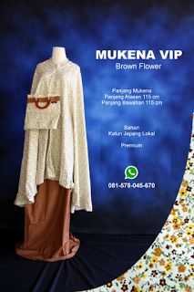 Mukena Vip Brown Flower - Grosir Pesan Mukena katun jepang santung bordir batik bali murah anak
