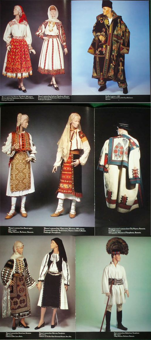 Romanian Costume Exhibition Kent State University 1991 USA