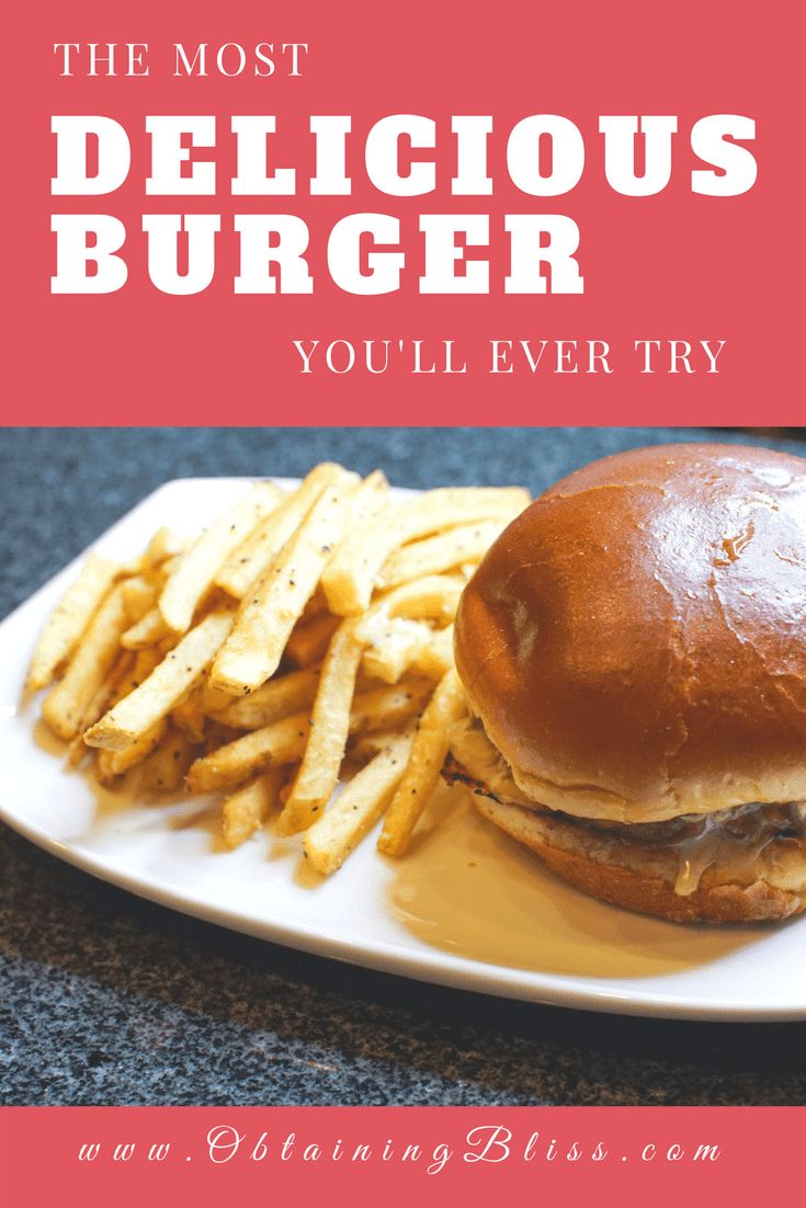 If you love burgers you will definitely want to try this burger recipe. And trust me when I tell you it will be the most delicious burger you'll ever try! #burgers #delicious