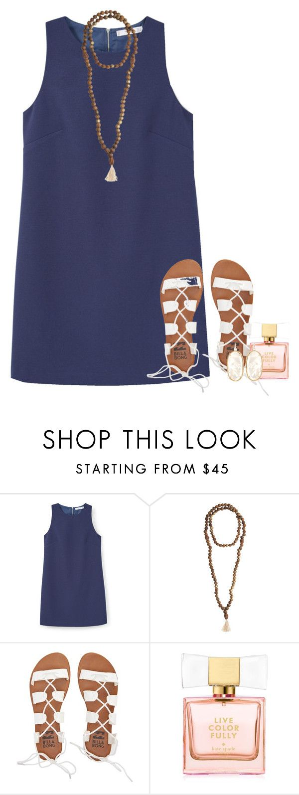"""""""feel like a million"""" by conleighh ❤ liked on Polyvore featuring MANGO, Jewelry for a Cause, Billabong, Kate Spade and Kendra Scott"""