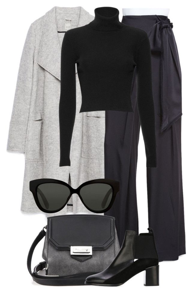 """""""Untitled #2228"""" by rosyfilm ❤ liked on Polyvore featuring Zara, Maiyet, A.L.C., Alexander Wang, See by Chloé and Linda Farrow"""