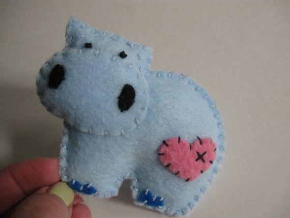 Felt Hippo, how cute is this?