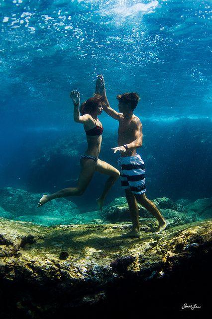 Take an underwater photo! Definitely going on my bucket list!