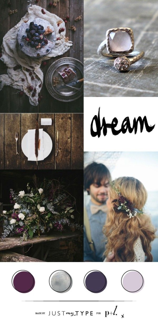 Mood Board // Dark Winter Berry #wedding
