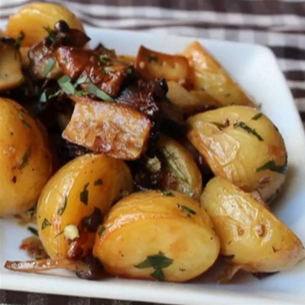 """Roasted Wild Mushrooms and Potatoes 