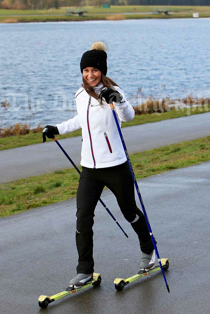 roller-skiing at Dorney Lake