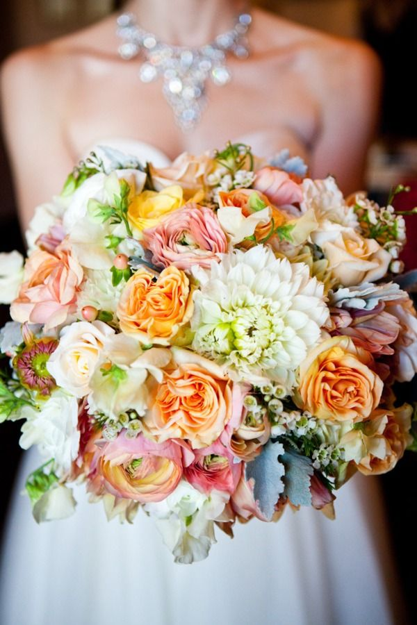 Very whimsical, feminine, and sophisticated!...THIS is how I want my flowers to look.