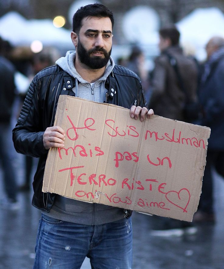 Paris Muslim Man Free Hugs Video | Watch a video of a Muslim man asking for free hugs in Paris. His sign reads - Im a Muslim and I'm told I'm a terrorist. I trust you. Do you trust me? #refinery29 http://www.refinery29.com/2015/11/97975/paris-attacks-muslim-free-hugs-video
