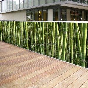 Brise vue toile 3 ml - motif bambous