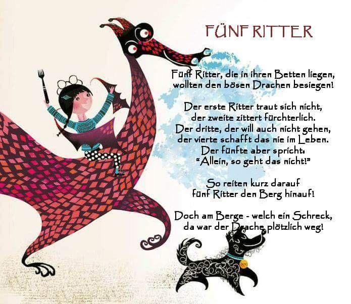 5 ritter  vorschullieder fingerspiele gedichte für kinder