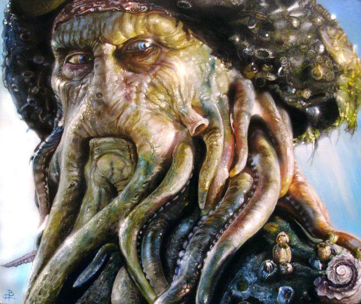 Historia Davy Jones es el primer capitán del Holandés Errante, precediendo a William Turner.