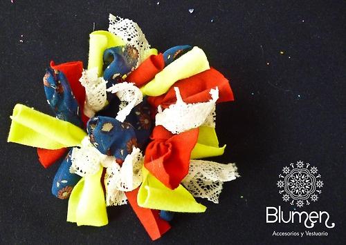 ~ Blumen ~ — ♥ collet rojo, azul y tela de encaje