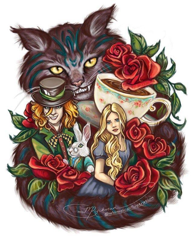 Картинки алисы и кота