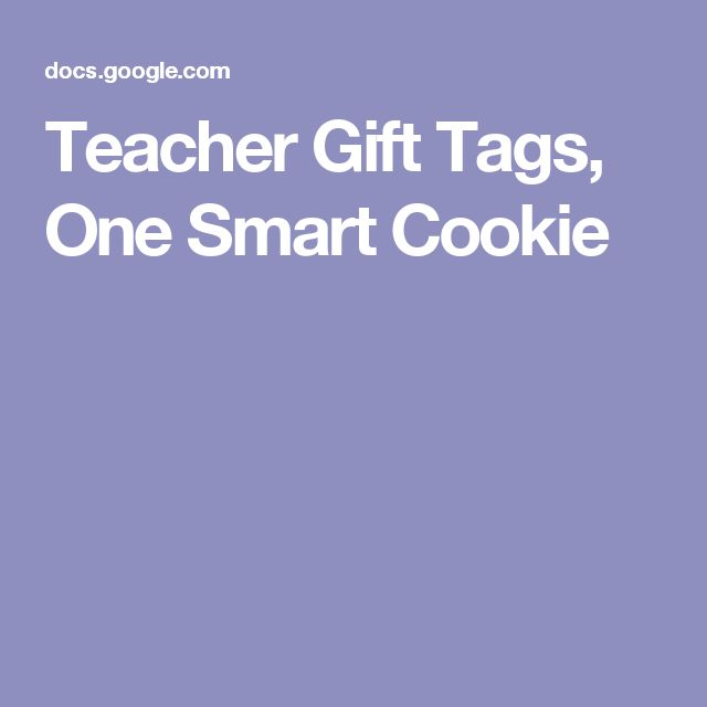 Teacher Gift Tags, One Smart Cookie