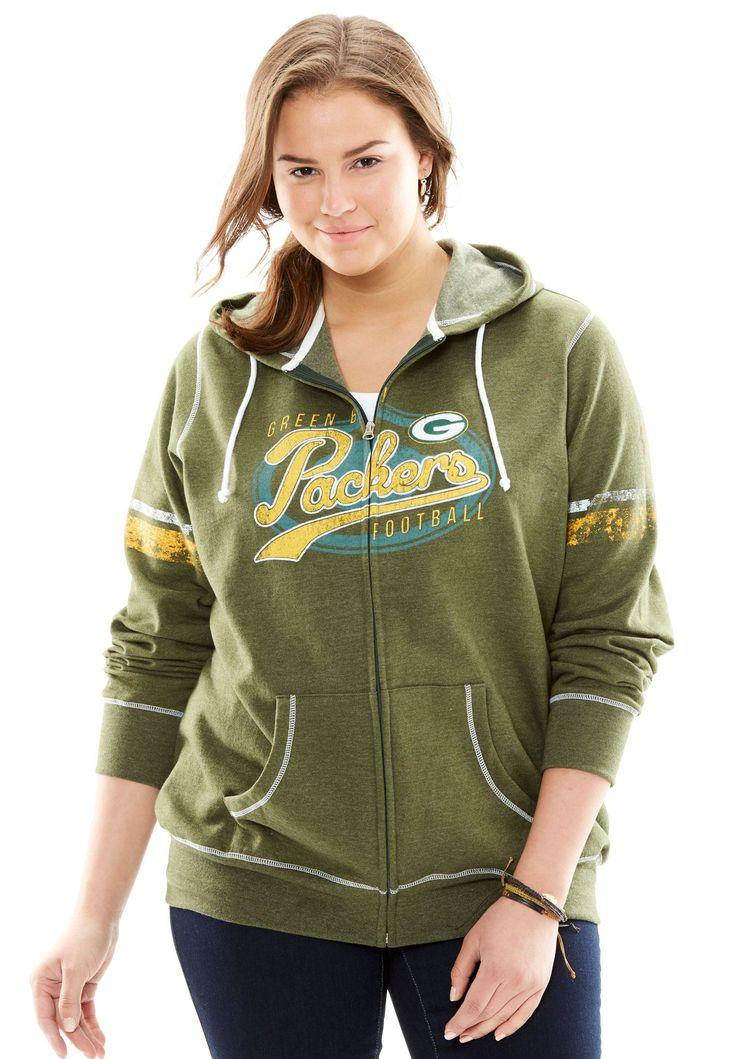 Zip-up NFL Sweatshirt - Women's Plus Size Clothing