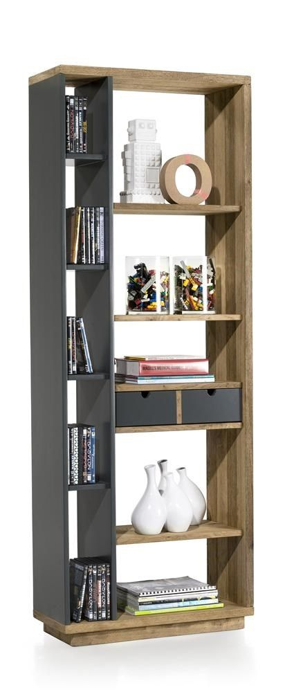 Use it as a bookcase, or as a room divider and turn the drawers around for a grey or wooden colour.