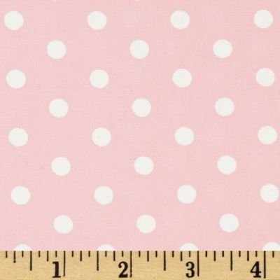 Pimatex Basics Polka Dots Pale Pink