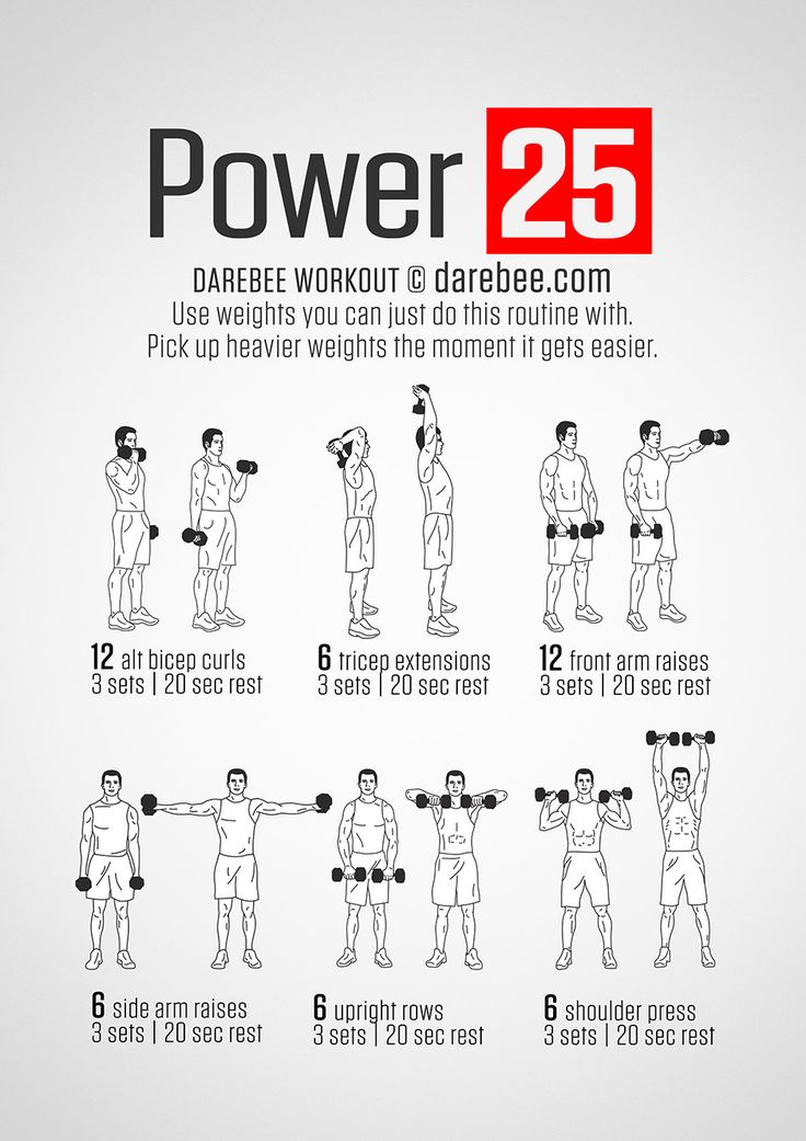 darebee dumbell strength workout